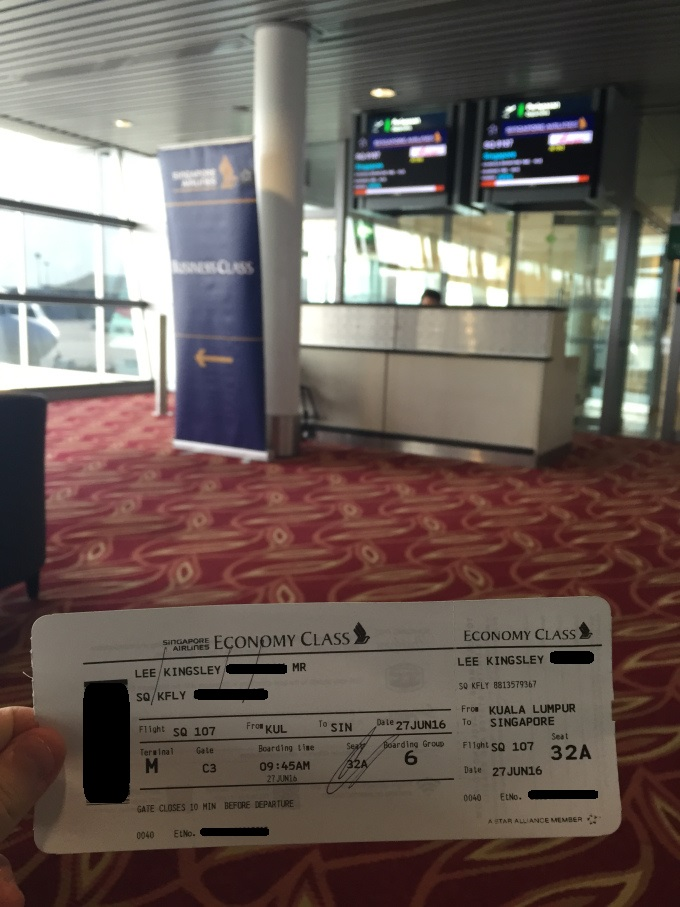 Singapore Airlines 107- Kuala Lumpur to Singapore – FlyKingsley.com